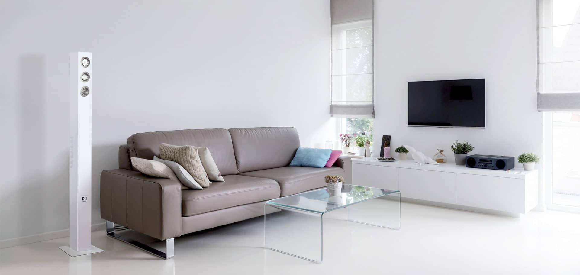 Alarme cambrioleur design blanche dans maison