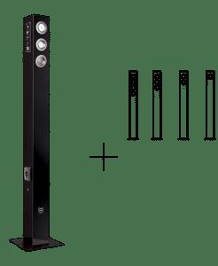 Alarme anti-intrusion design noire